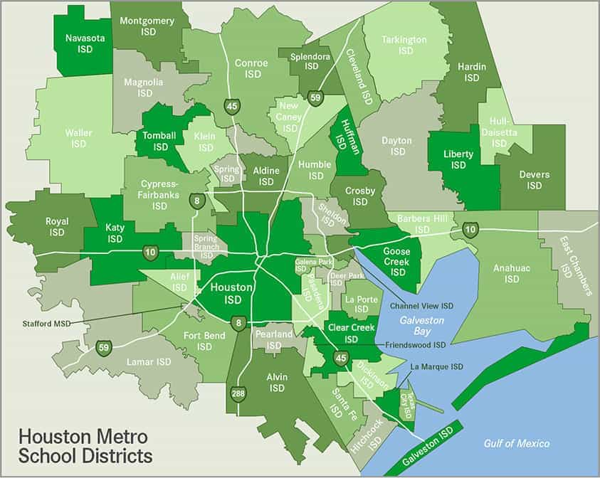 map of houston school districts