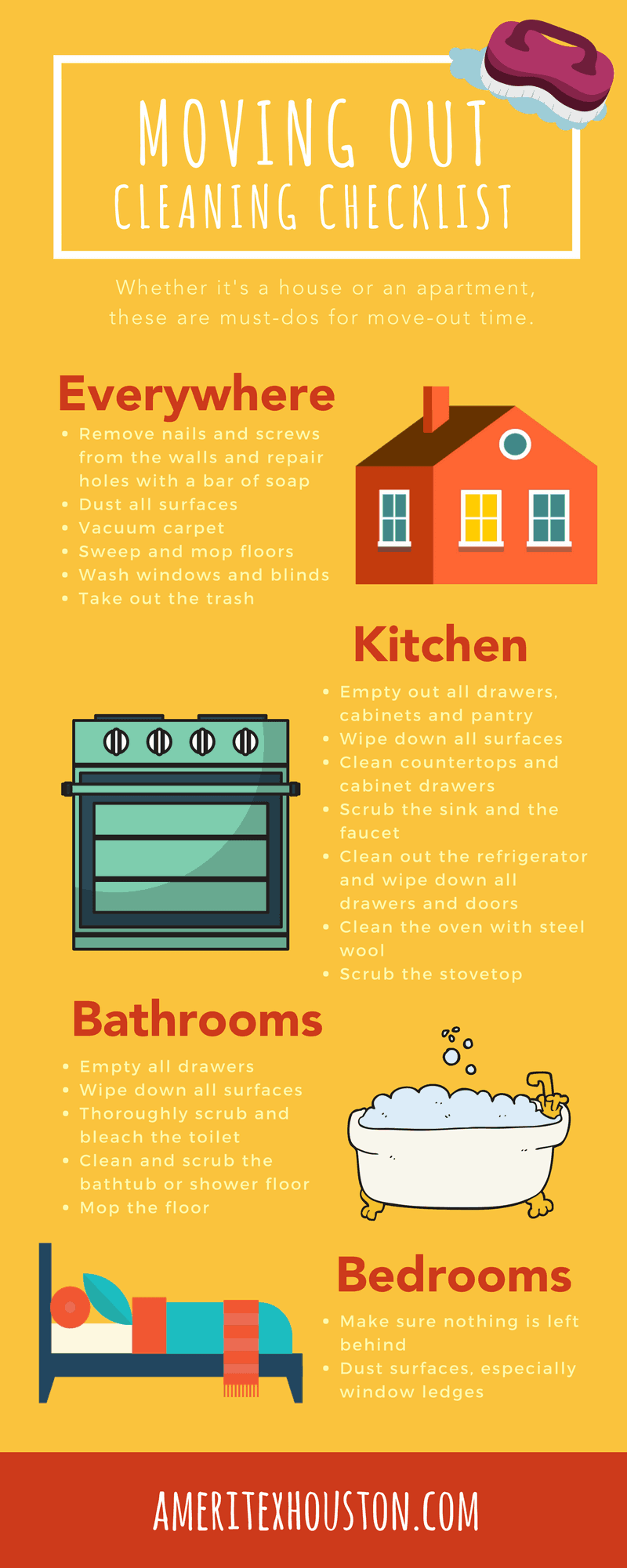 moving out cleaning hacks