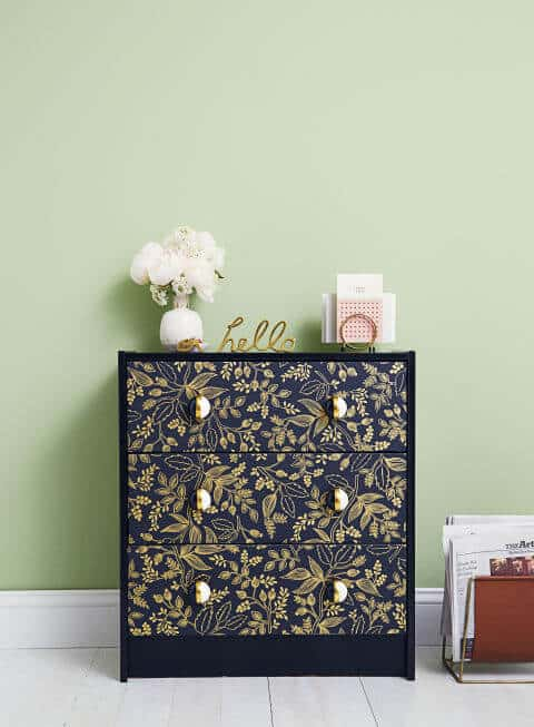 diy decor patterned dresser
