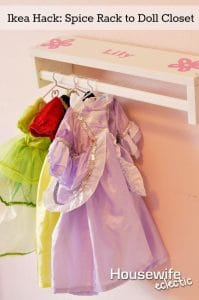 doll closet storage hacks