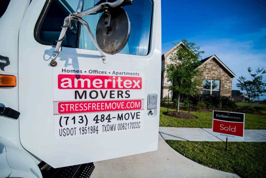 ameritex houston movers moving truck