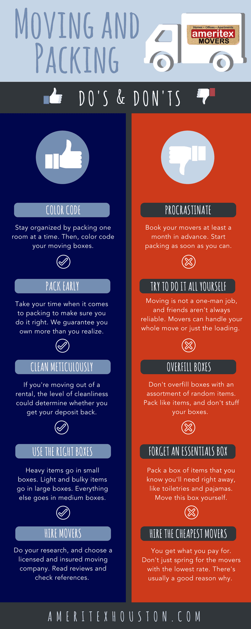infographic moving do's and don'ts
