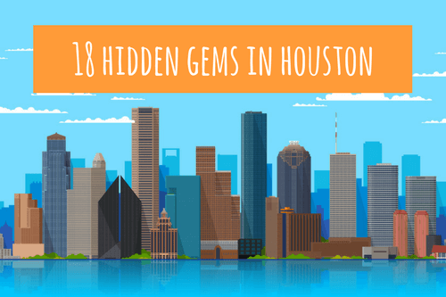 skyscraper illustration - hidden gems in houston