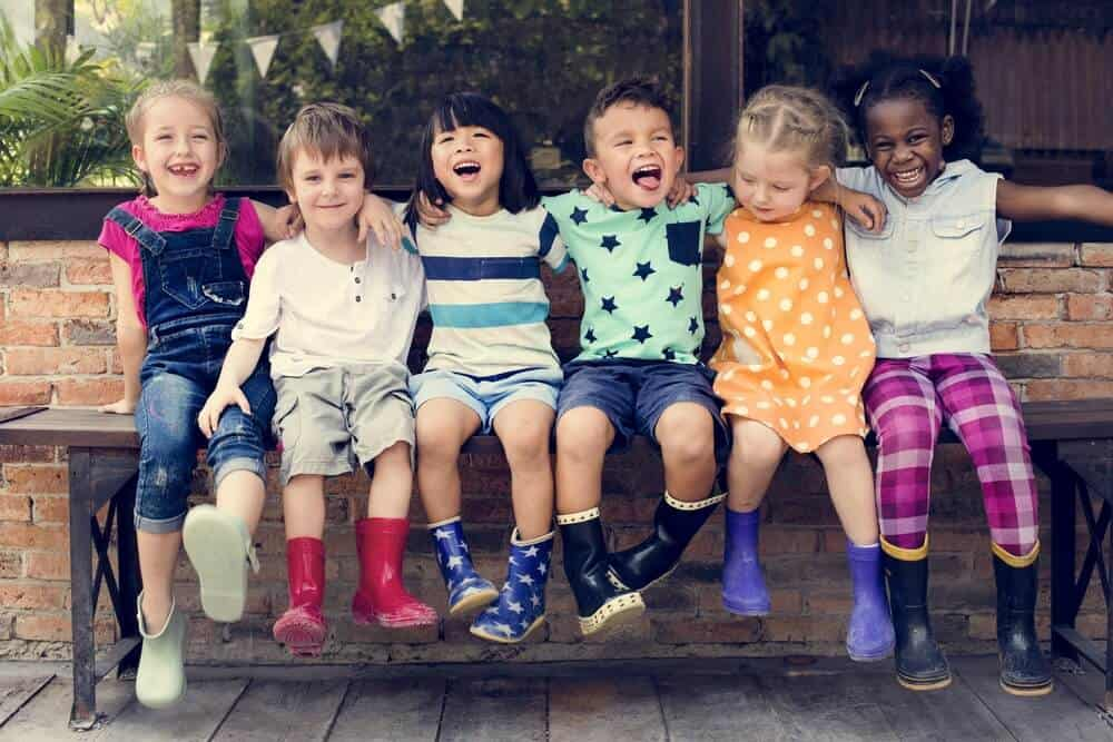 diversity in houston, group of kindergarten friends