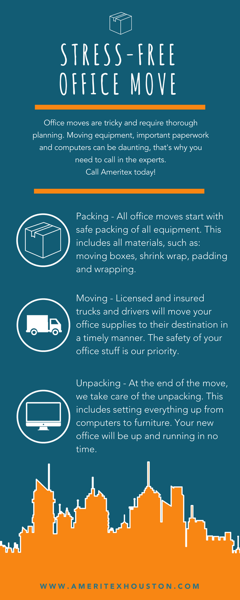 tips for a stress-free office move infographic