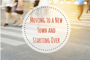 moving to a new town and starting over busy sidewalk scene