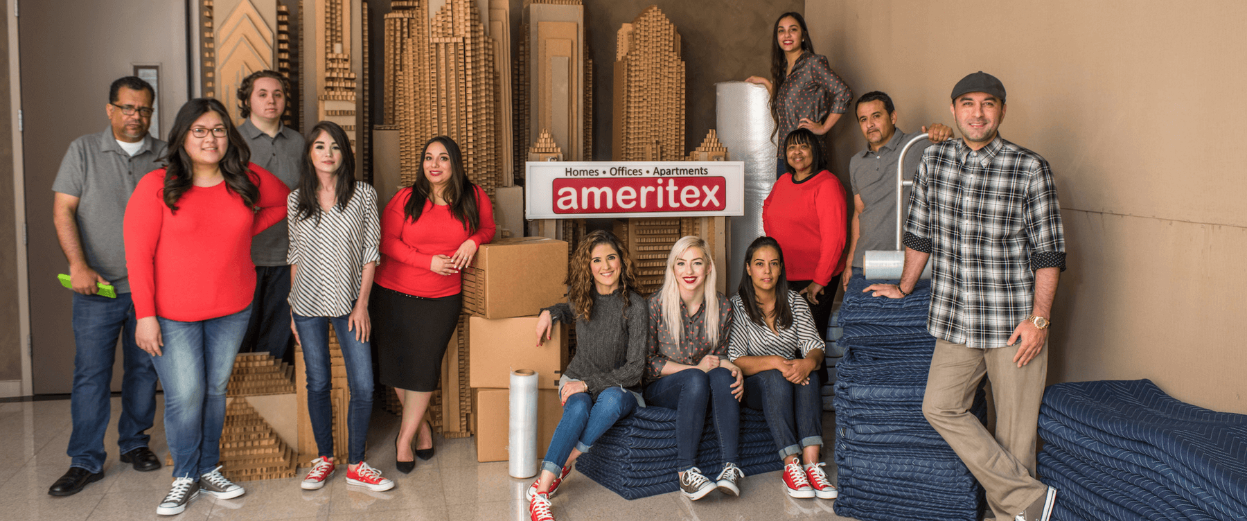 Ameritex Staff Photo With Box City