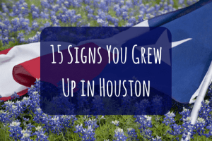 grew up in houston texas flag and blue bonnets