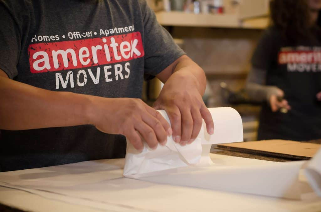 ameritex movers packing fragile items