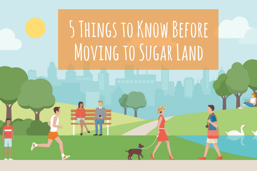 moving to sugar land - park with people