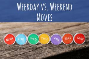 weekday vs. weekend moves-days of the week