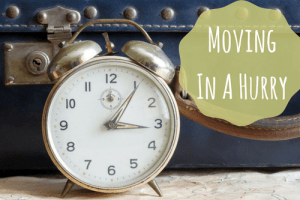moving in a hurry-clock