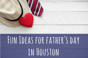 father's day in houston. tie hat