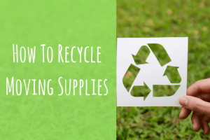 recycle moving supplies-recycle sign