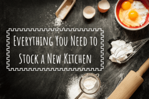 stock a new kitchen